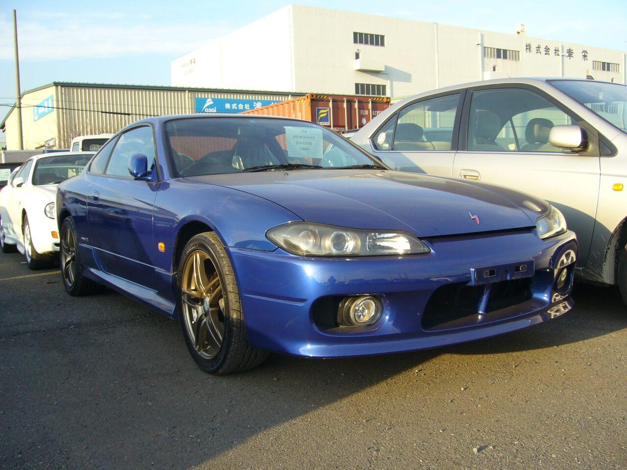 Nissan Silvia S15 Spec-R Blau Front Jp-Importcars